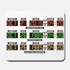BTTF Time Clock Mousepad