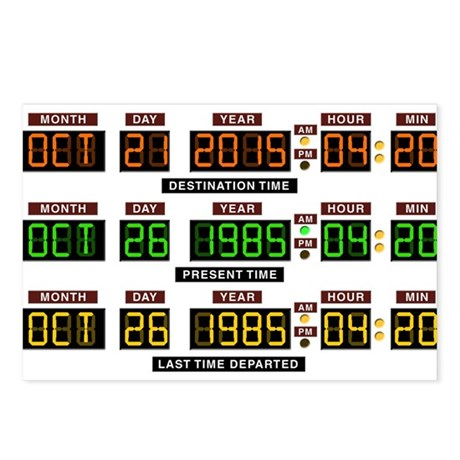 BTTF Time Clock Postcards (Package of 8)