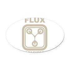 BTTF Flux Capacitor Oval Car Magnet