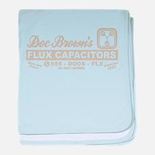 Doc Brown's Flux Capacitors baby blanket