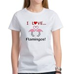 I Love Flamingos Women's T-Shirt