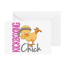 Kickboxing Chick 2 Greeting Card