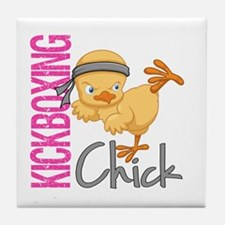 Kickboxing Chick 2 Tile Coaster