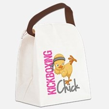 Kickboxing Chick 2 Canvas Lunch Bag