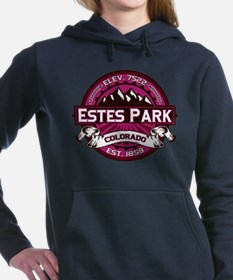 Estes Park Color Logo Raspberry Hooded Sweatshirt