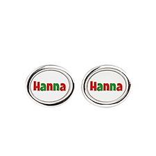 Hanna Christmas Red and Green Cufflinks