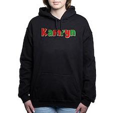Kamryn Christmas Red and Green Hooded Sweatshirt