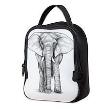 Elephant art Neoprene Lunch Bag