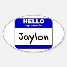 hello my name is jaylon Oval Decal