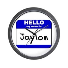 hello my name is jaylon  Wall Clock