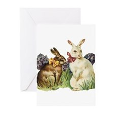 Vintage Easter Bunny Rabbits Greeting Cards