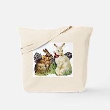 Vintage Easter Bunny Rabbits Tote Bag
