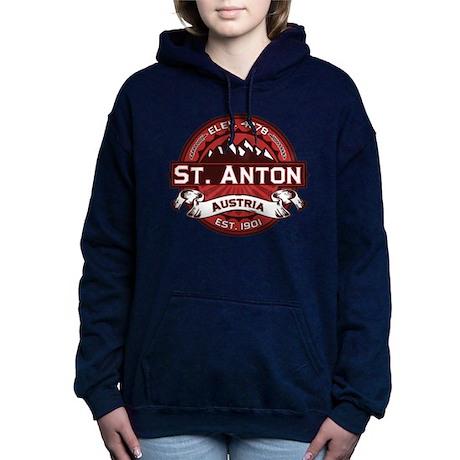 St Anton Red.png Hooded Sweatshirt