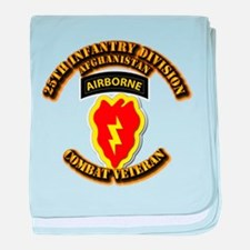 Army - 25th ID w Cbt Vet - Afghan baby blanket