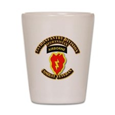 Army - 25th ID w Cbt Vet - Afghan Shot Glass