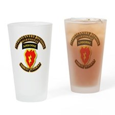 Army - 25th ID w Cbt Vet - Afghan Drinking Glass