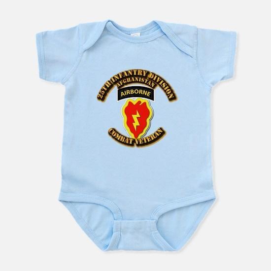Army - 25th ID w Cbt Vet - Afghan Infant Bodysuit