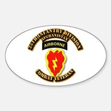 Army - 25th ID w Cbt Vet - Afghan Decal