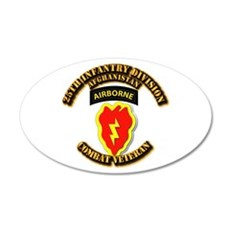 Army - 25th ID w Cbt Vet - Afghan Wall Decal
