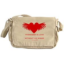 Friendship is Love Messenger Bag
