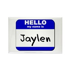 hello my name is jaylen Rectangle Magnet