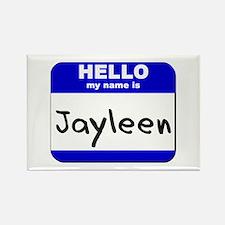 hello my name is jayleen Rectangle Magnet