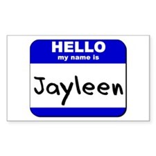 hello my name is jayleen Rectangle Decal
