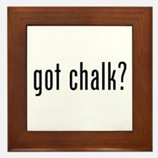 Got Chalk? Framed Tile