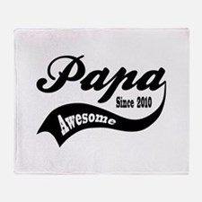 Awesome Papa Since 2010 Throw Blanket
