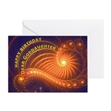 Birthday card for a goddaughter Greeting Cards