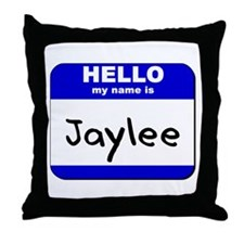 hello my name is jaylee  Throw Pillow