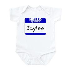 hello my name is jaylee  Infant Bodysuit