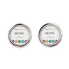 Mona Yelling BINGO Cufflinks