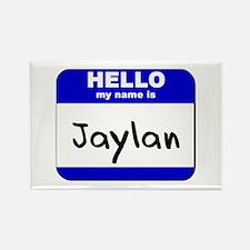 hello my name is jaylan Rectangle Magnet