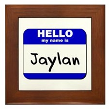 hello my name is jaylan  Framed Tile