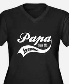 Awesome Papa Since 2011 Women's Plus Size V-Neck D
