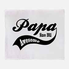 Awesome Papa Since 2011 Throw Blanket