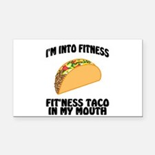 I'm Into Fitness...Fit'Ness T Rectangle Car Magnet