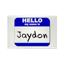 hello my name is jaydon Rectangle Magnet