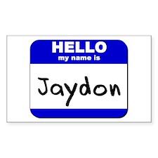 hello my name is jaydon Rectangle Decal