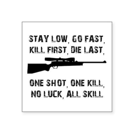 No Luck All Skill Sticker