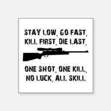 No Luck All Skill Sticker