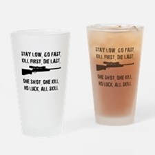No Luck All Skill Drinking Glass