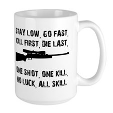 No Luck All Skill Mugs