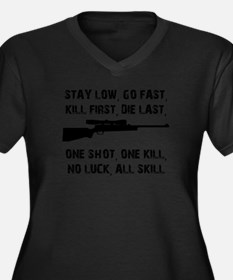 No Luck All Skill Plus Size T-Shirt