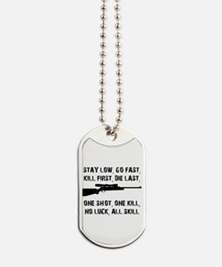 No Luck All Skill Dog Tags