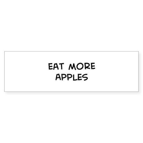 Eat more Apples Bumper Sticker