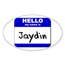 hello my name is jaydin Oval Decal