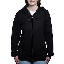 Mt Rainier Mountain Emblem Black Zip Hoodie