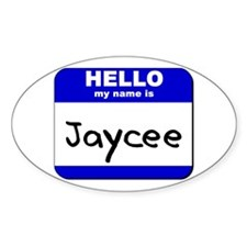 hello my name is jaycee Oval Decal